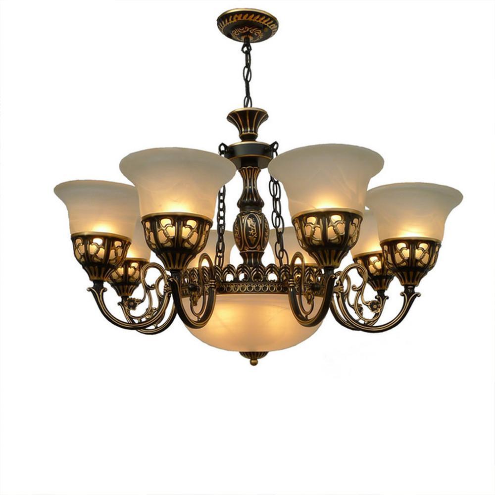 미국 국가 펜던트 가벼운 골동품 램프 간단한 유럽 복고풍 단철 펜던트 조명 램프 로프트 램프