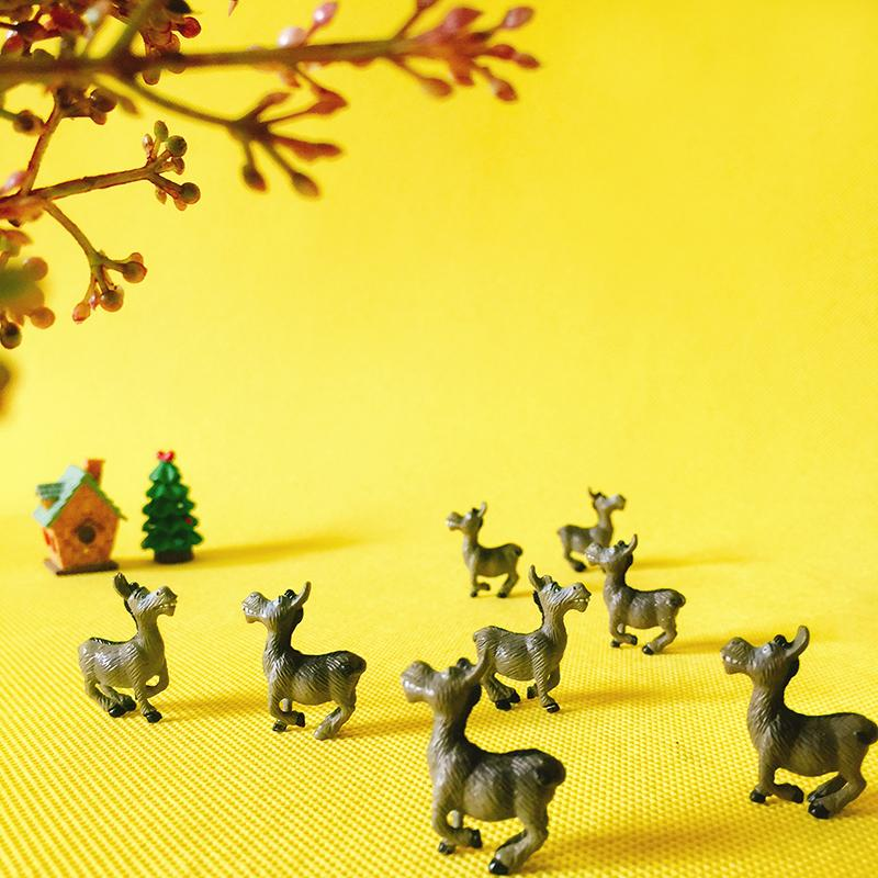 venta ~ 10 piezas burro / animales / miniaturas de fantasía / lindo / jardín de hadas / gnomo / musgo terrario decoración / artesanías / bonsai / suministros de bricolaje / figurita