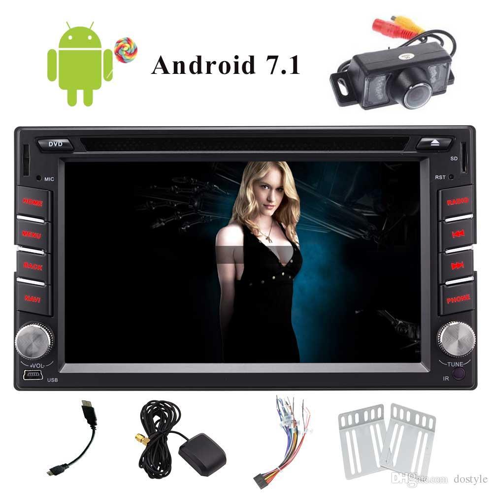 Android 7.1 6.2'' Multimedia In-Dash Car Stereo Receiver In Dash Autoradio CAR DVD Player Bluetooth WiFi/4G/Mirror Car Radio USB