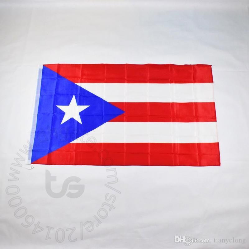 بورتوريكو العلم الوطني 3X5 الحرة الشحن FT / 90 * 150CM معلق العلم الوطني بورتوريكو الديكور المنزلي راية