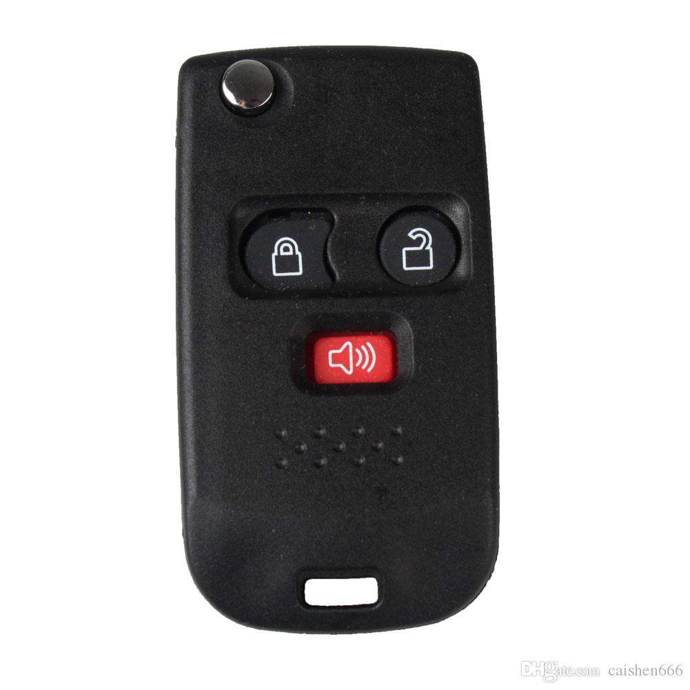 3Buttons Replacement Keyless Modify Flip Folding Remote Fob Key Shell Case For Car Ford Mercury Switch blade