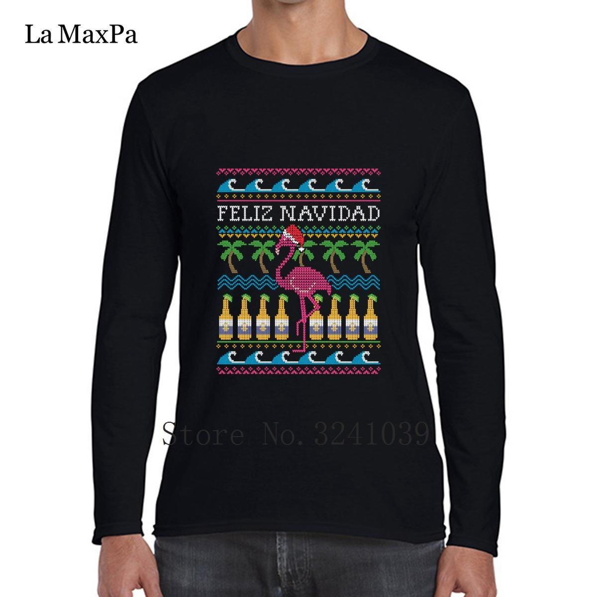 La Maxpa Humor Feliz Navidad hässliches Weihnachten T Shirt Trend 2018 Herren T-Shirt Kleidung Rundhals Herren T-Shirt