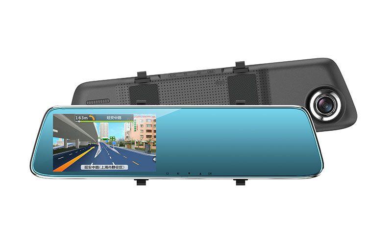 "HD Mirror Cam, CAR DVR 170°, Motion Detection, 5.0"" LCD, 1080P HD, Dashboard Camera Video Recorder, Loop Recording, Night-mode"