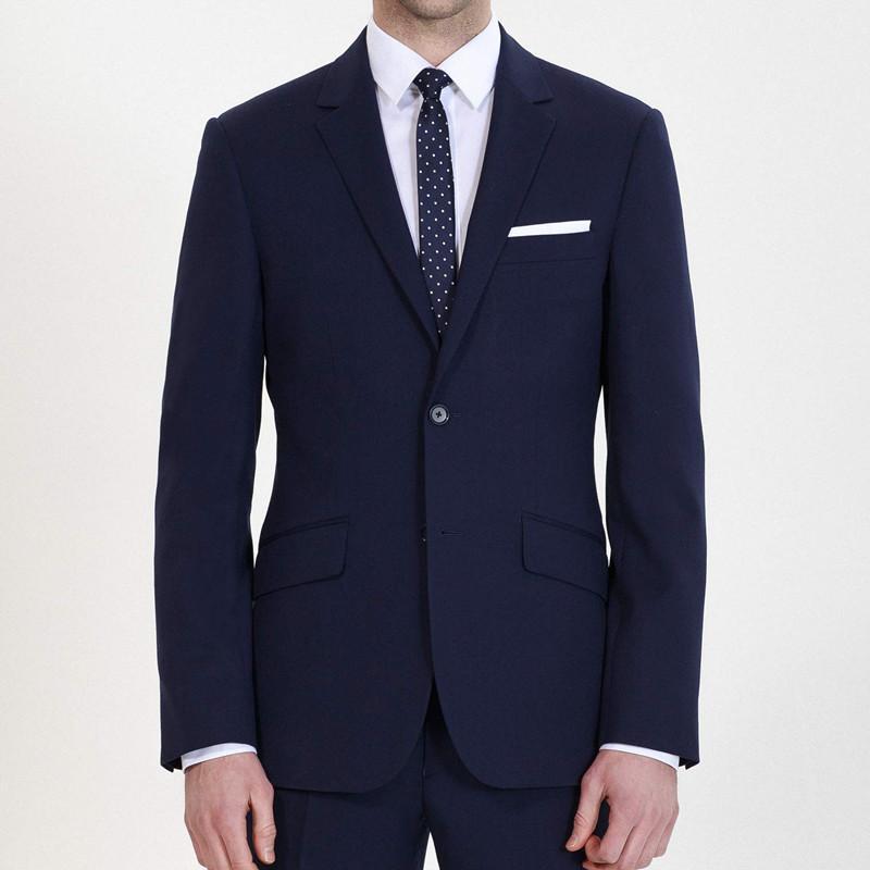 HBDesign Men 2 Piece 2 Button Peak Lapel Slim Fit Fashion Formal Tux
