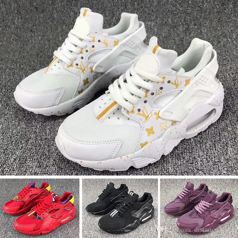 Nike Air Huarache Flash Light Air Huarache Enfants 2018 Nouvelle Chaussures De Course Infantile Run Enfants chaussure de sport en plein air de luxe tennis Huaraches Formateurs Enfant Sneakers