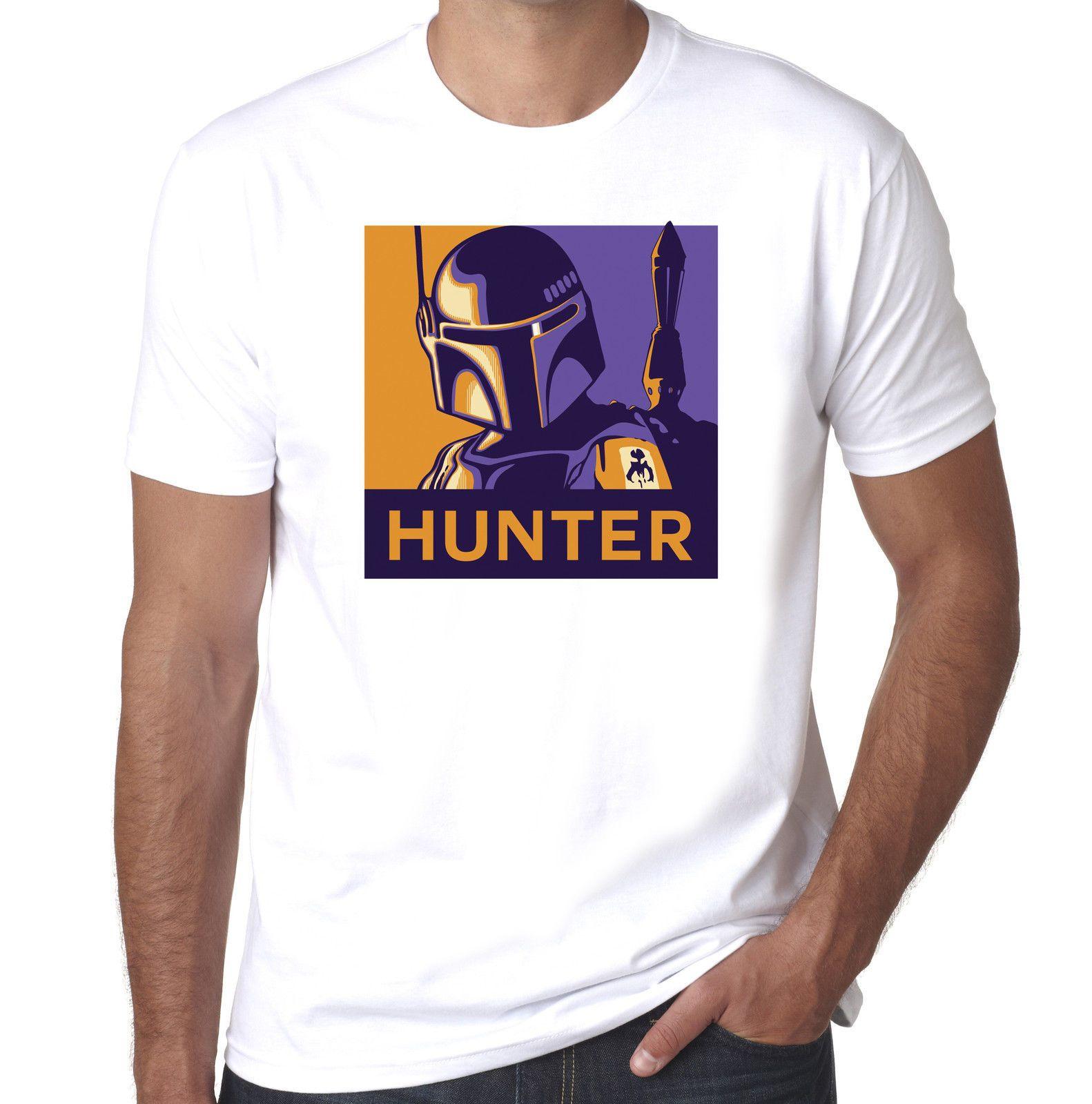 Boba Fett Hunter Empire Strikes Back Inspired scifi 100/% cotton mens tshirt
