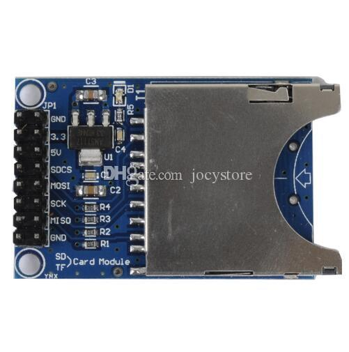 Free shipping! 1pc/lot SD Card Slot Socket Reader Module For Arduino 5V/3.3V Module for MP3 Player MCU/ARM System Control