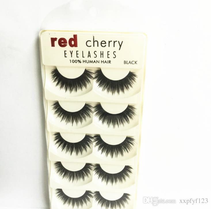 top sale Eyes makeup False Eyelashes C50 multi-layer encryption eye lashes 3D stereo 5 pairs of eyelashes a848