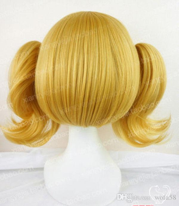 Anime Restaurant to Another World Aletta 2 Clip on Ponytail Golden Cosplay Wig