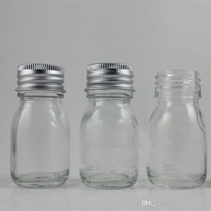30 г 1 унц. Прозрачная стеклянная банка с кремом для лица пустой косметический образец 30 мл контейнер эмульсия многоразового использования горшок F661