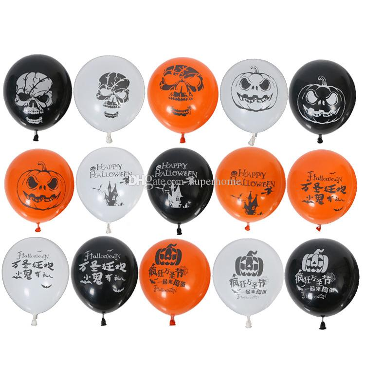 100 pcs 10 pouces Coloré Halloween Ballons En Latex Fournitures De Fête Helium Halloween Décoration Maison Fête Fourniture Décoration