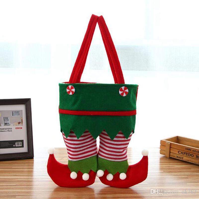 Borsa da Babbo Natale in tessuto non tessuto Borsa da Babbo Natale in tessuto non tessuto Nuovo Sacchetto di regalo di Babbo Natale Sacchetto di regalo di Natale per i bambini