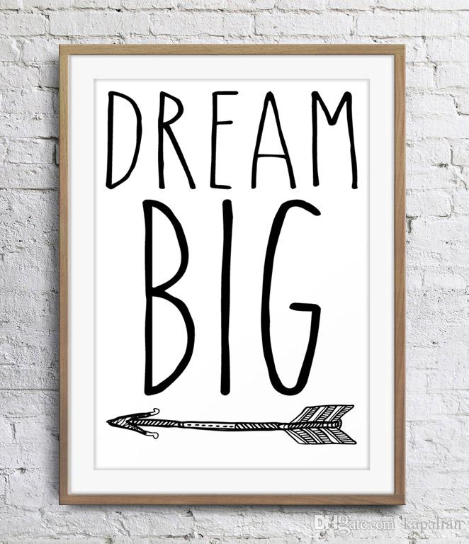 2019 Motivational Inspirational Quotes Dream Big Arrow Art Poster Wall  Decor Pictures Art Print Poster Unframe 16 24 36 47 Inches From Kapalian,  $9.64 ...