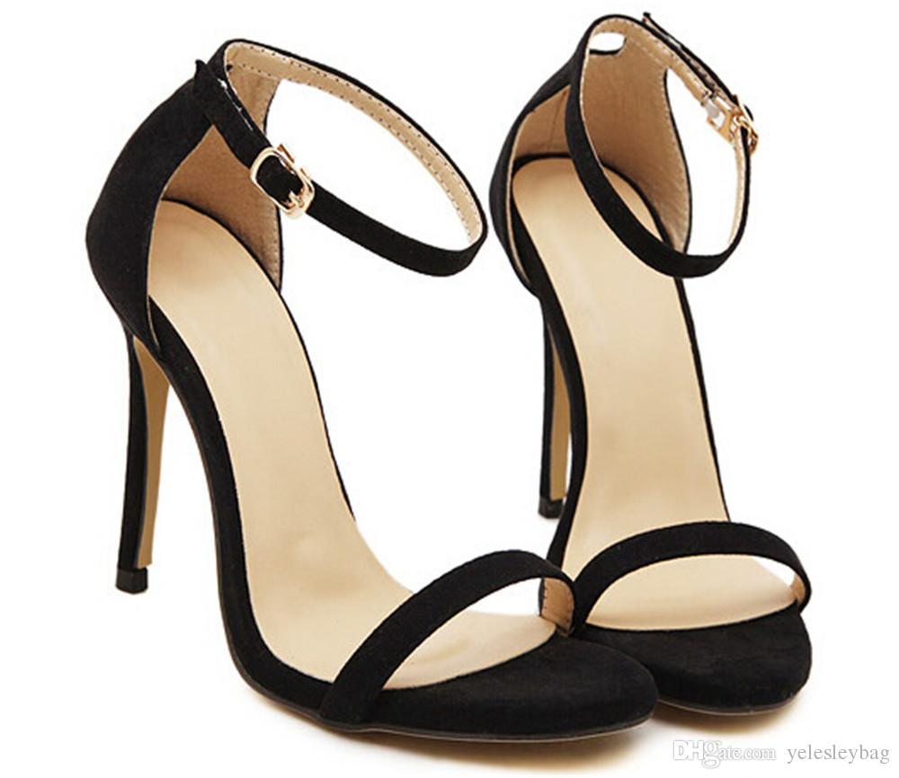 Donne Tacchi alti Sexy Open Toe Hollowed-Out con una cintura Sandali Super tacchi alti Scarpe da sposa Sandalo gladiatore Super tacco alto Scava fuori