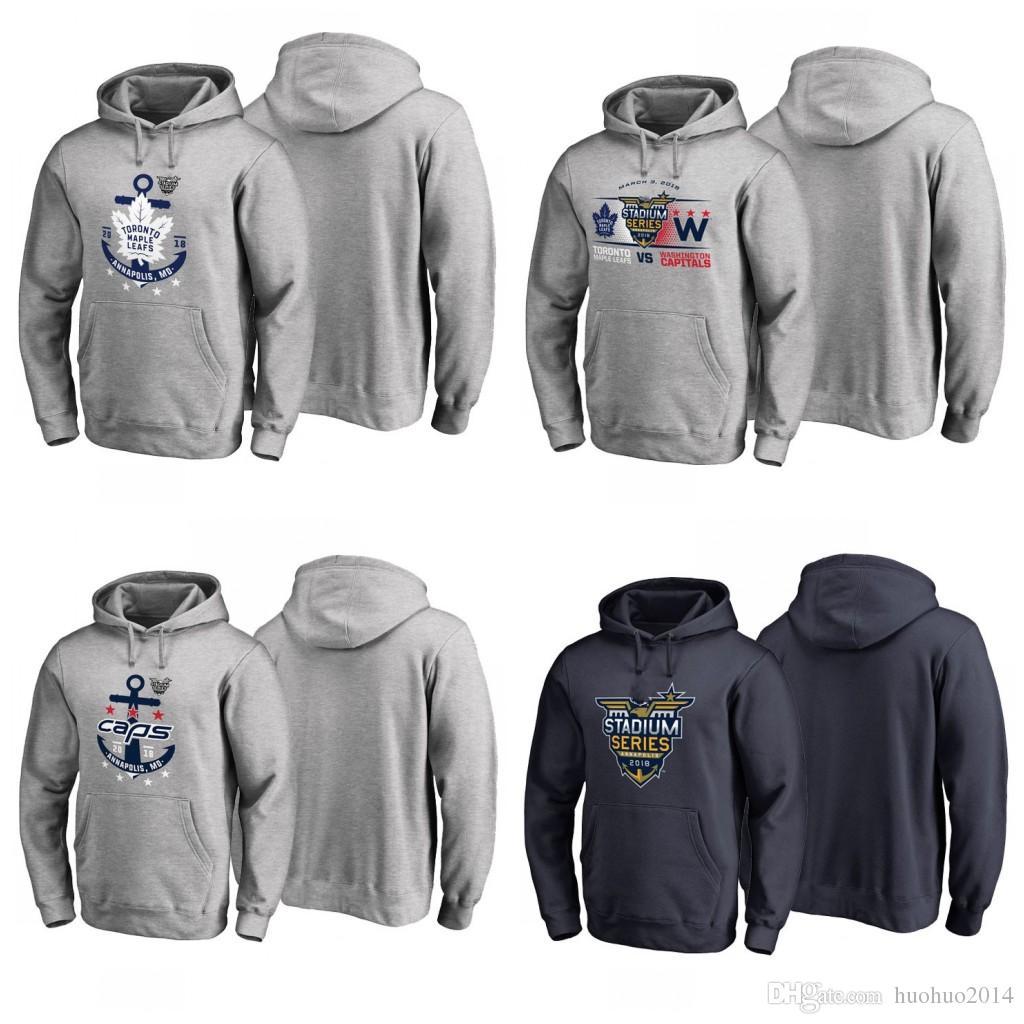 buy popular 8acae 4194f 2019 2018 Stadium Series Pullover Hoodie Toronto Maple Leafs Washington  Capitals Custom Hockey Hoodie Jerseys Sweatshirts From Huohuo2014, $35.54 |  ...