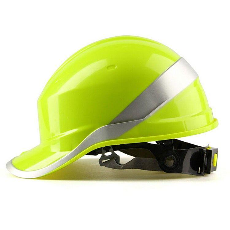 logo imprimé gratuit sécurité Casque travail dur Chapeau ABS Matériau isolant avec Phosphore Stripe construction Casques Protéger