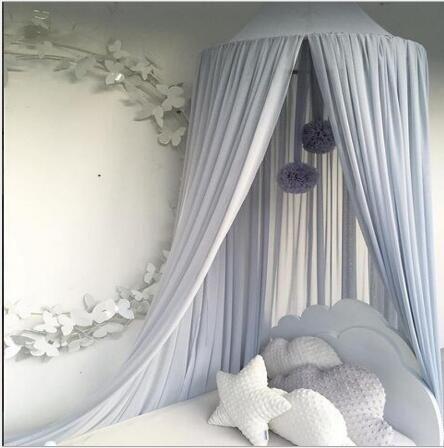 Mosquitera decoración de la habitación de los niños gasa luz transpirable color sólido sueño colgando mosquitera