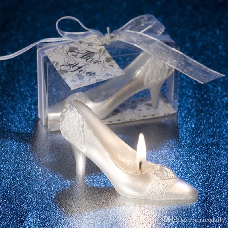 Candela con scarpa di cristallo Cenerentola ispirata alla principessa Scarpe con tacco alto Decorazione per feste per matrimoni, festa di compleanno, servizio da tavola, caramelle ecc