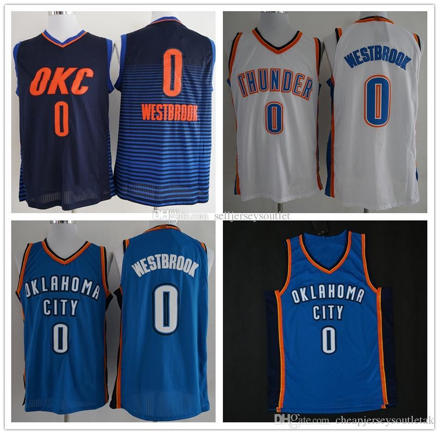 online store 86d05 47d40 2019 Real Cheap For Mens 0 Russell Westbrooks Jersey White Blue Dark Blue  Westbrooks College Basketball Jerseys University Stitched Shirts From ...