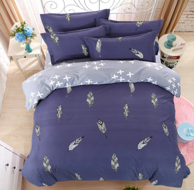 Bamboo Fiber Jacquard Duvet Cover Set 3/4PCS Sheets+quilt+Pillowcase Full King Queen Twin kids Size Bedding Set