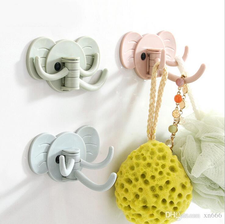 5pc Cute elefant Wand-Küche Bad mit nagelfreier Tür nach Mehrzweck starke klebende nahtlose Haken