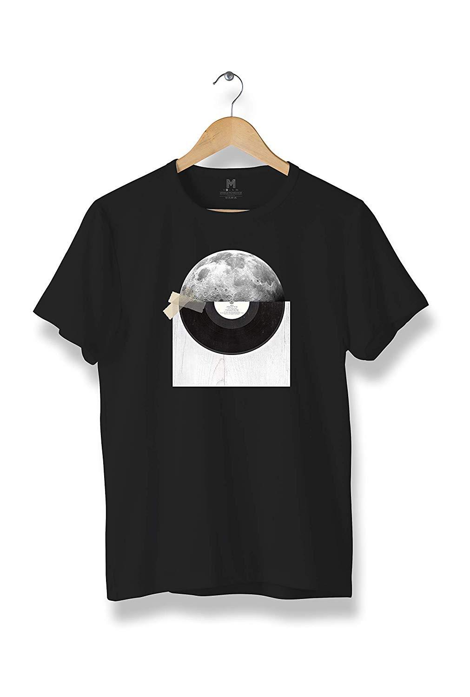 EGDShirts Disk Moon T-Shirt, Modern Cool Tees Men (R56)