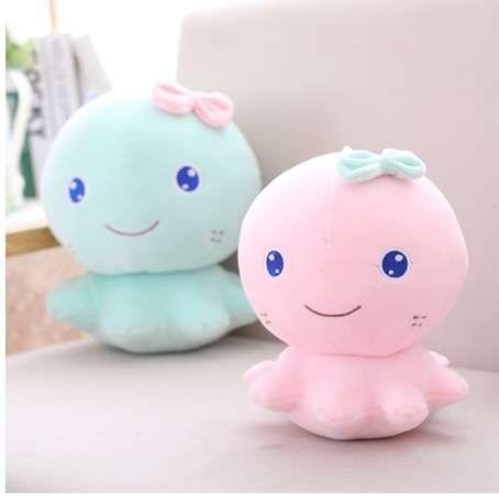 21 см милый розовый синий осьминог плюшевые игрушки укомплектованы мягкие животные мультфильм кукла для детей ребенок прекрасный день рождения Рождественский подарок для девочек