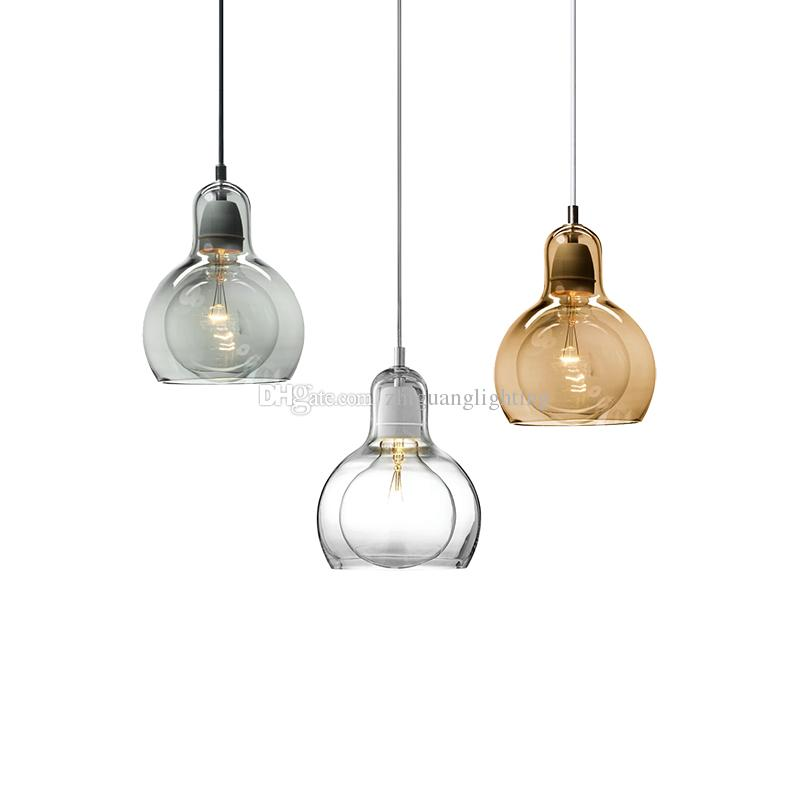 Mega Ampul kolye ışık süspansiyon lambası modern Andtradition kolye lamba cam kolye aydınlatma yemek odası oturma odası