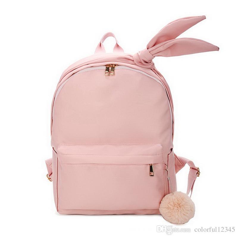 tienda de liquidación a0797 6ee6f Compre Moda Simple Kawaii Mochila Mujer 2018 Nuevas Mochilas De Arco Para  Mujeres Laptop Student School Bag Bolsas De Viaje A $22.85 Del  Colorful12345 ...