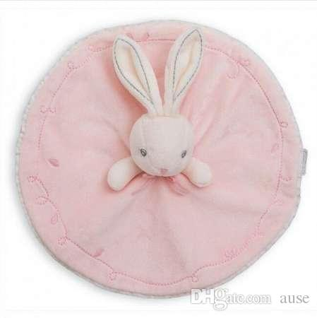 1 Piece Lovely Baby girl Rabbit toy Soft Velvet Hand Towel toddler infant crib bed toys Bunny Soothe Towels stroller bebes jouet