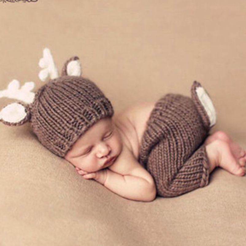 3 Pcs//set Baby Costume Photo Photography Prop Outfits Infants Hat Pants Tops