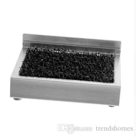 Portasapone in acciaio inox Bagno Portasapone Sapone Organizer Indietro Adesivo Installare strumenti di archiviazione Bagno Hardware