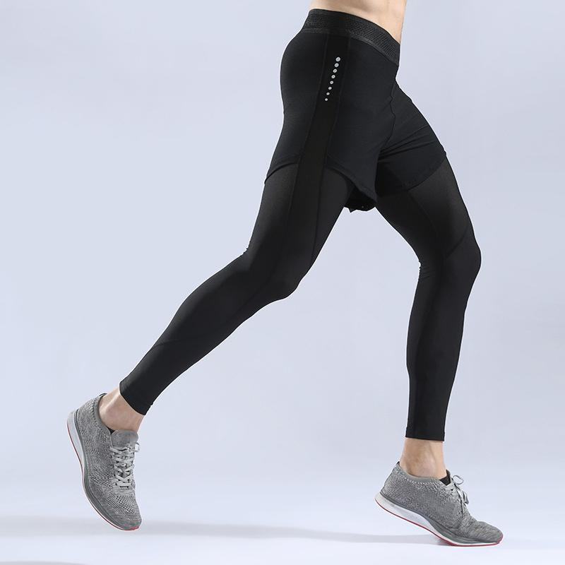 Men Compression Pants Fitness Jogging Sports Basketball Training Tights Trousers