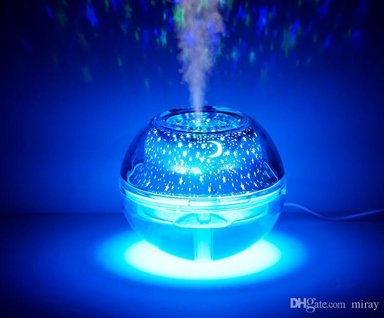Завод прямых продаж новый кристалл проектор семь цветов ночник увлажнитель домашнего офиса мини-очиститель воздуха увлажнитель