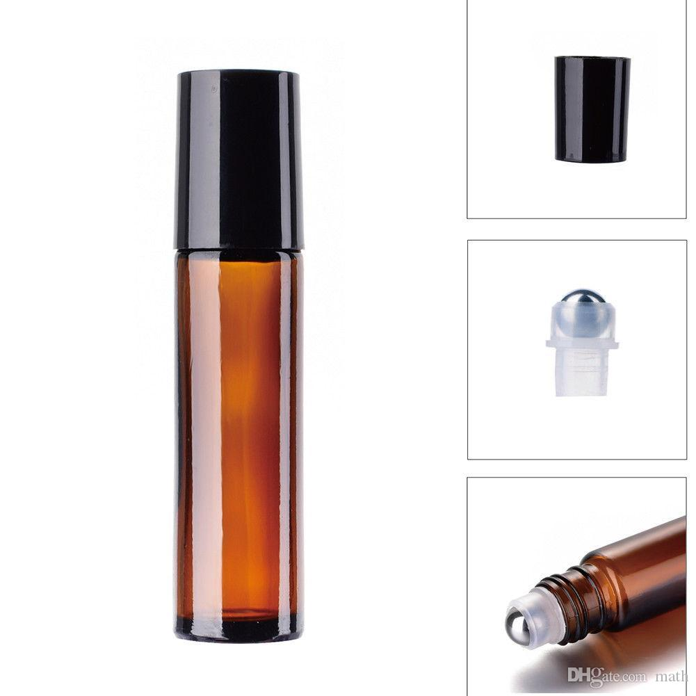10ml Glass Essential Oil Roller Bottle Useful for Aromatherapy Perfumes And Lip Balms Glass Roll on Bottle 400PCS