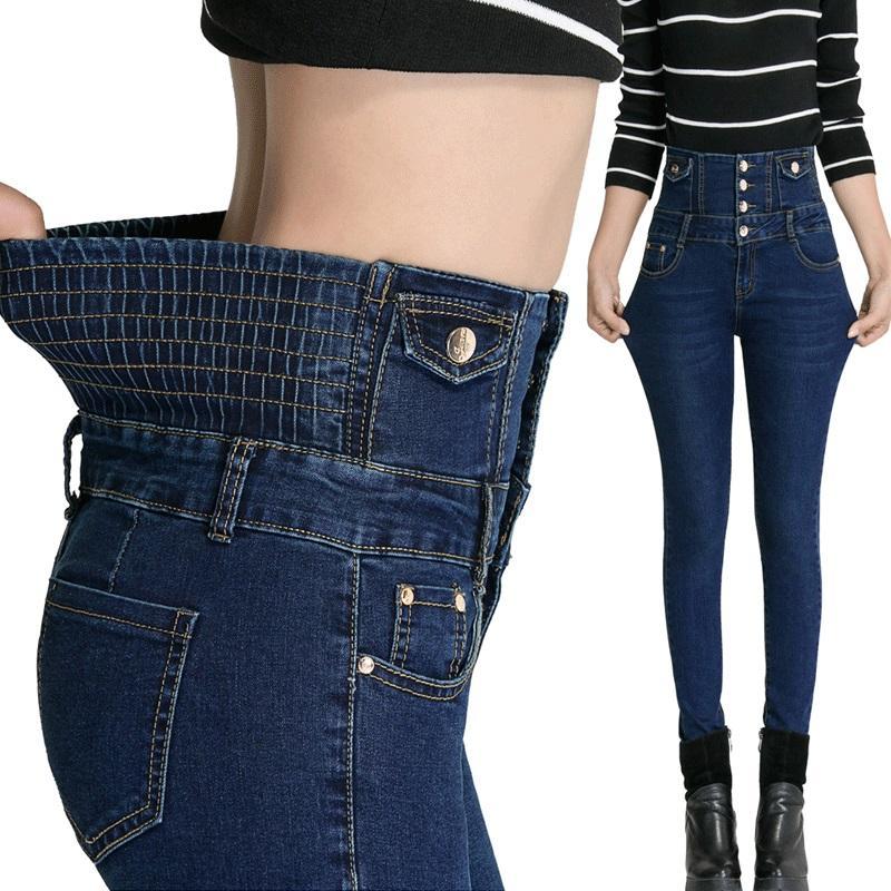 Leggings sottili elastici della vita alta classica di nuovo modo delle donne Pantaloni sottili magri di Jeanny Jeggings Skinny sexy dei pantaloni di grandi dimensioni MA0133