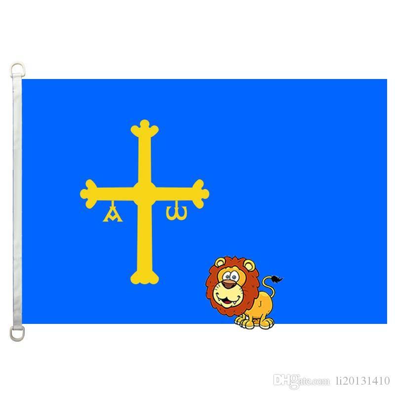 Asturias Landesflaggen Flagge, 90 * 150CM, 100% Polyester, Banner, Digitaldruck