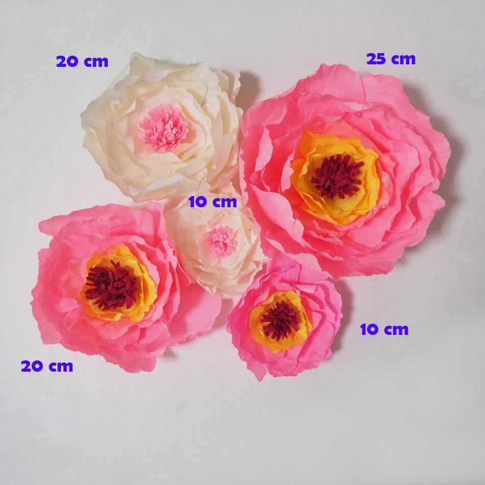 Gigante Flores De Papel De Crepe Flores Artificiais Artificiale Flores 5 PCS Para Festa de Casamento Evento Pano De Fundo Decoraçã ...