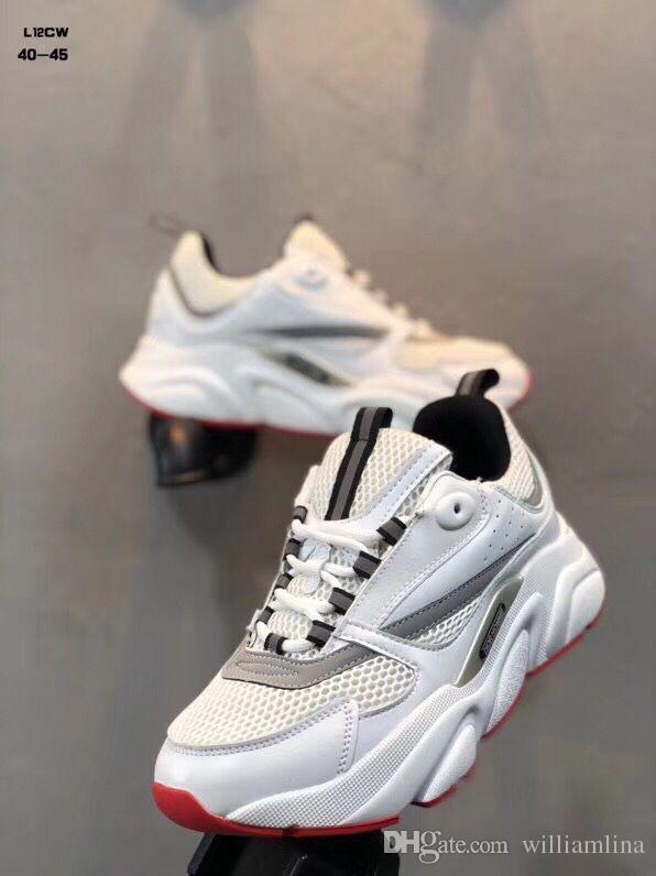 Hohe Qualität Homme B22 Sneaker Luxus Outdoor Sports Mesh Atmungs Trainer männer Brand New Turnschuhe Stil Freizeitschuhe EU40-45