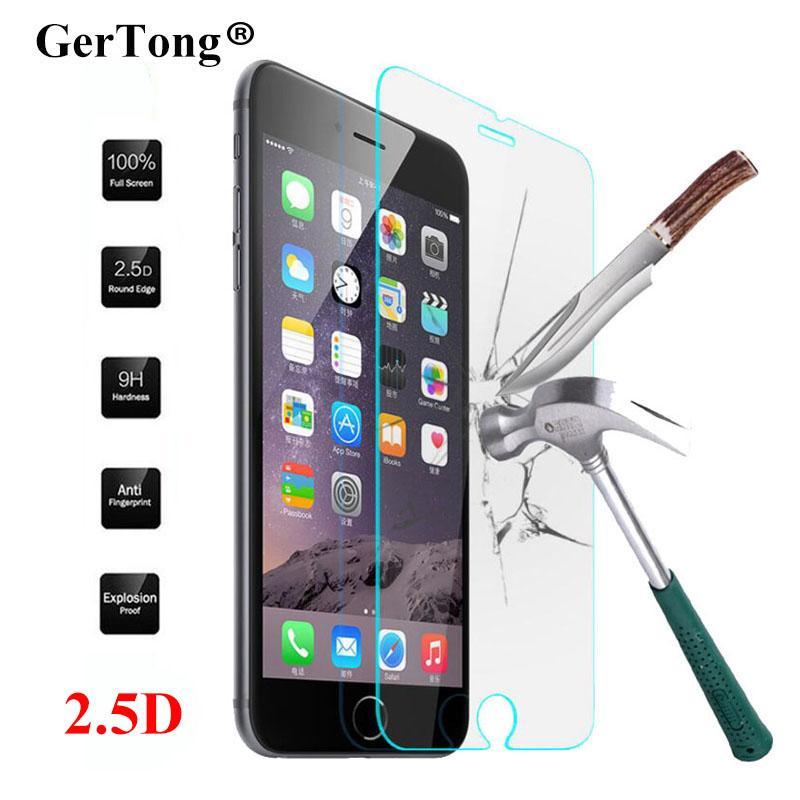 Vidrio Templado a Prueba de Explosiones para iPhone 6 7 Plus 6s 6splus 4 4S 5 5C 5S SE 7 Protector de pantalla Película endurecida Pelicula de vidro