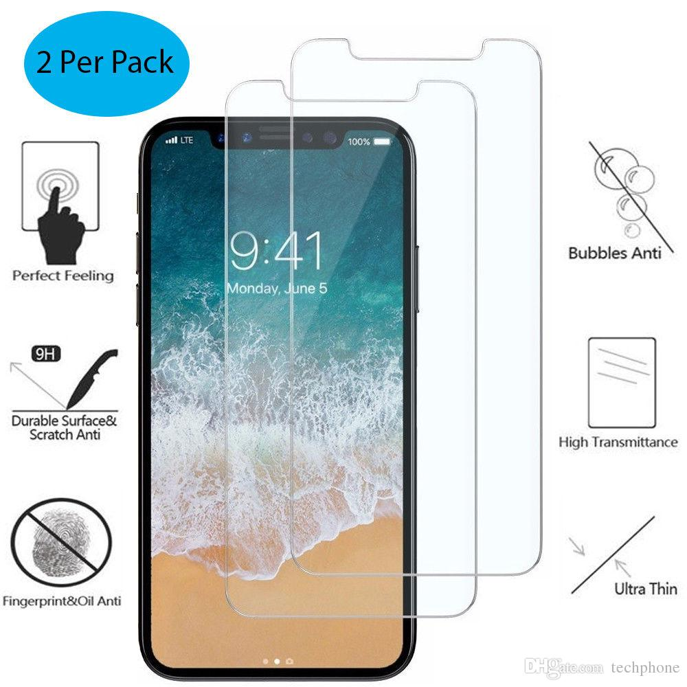 Screen Protector For iPhone X XS Max XR Tempered Glass Screen Protector Guard 5D Full Cover Crystal