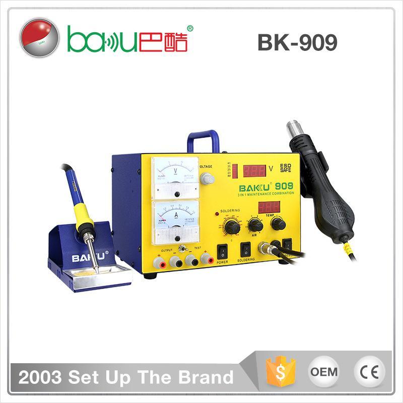909 الرقمية بندقية الهواء الساخن محطة desoldering الحديد الكهربائية ثلاثة في واحد محطة لحام أدوات إصلاح الهاتف المحمول