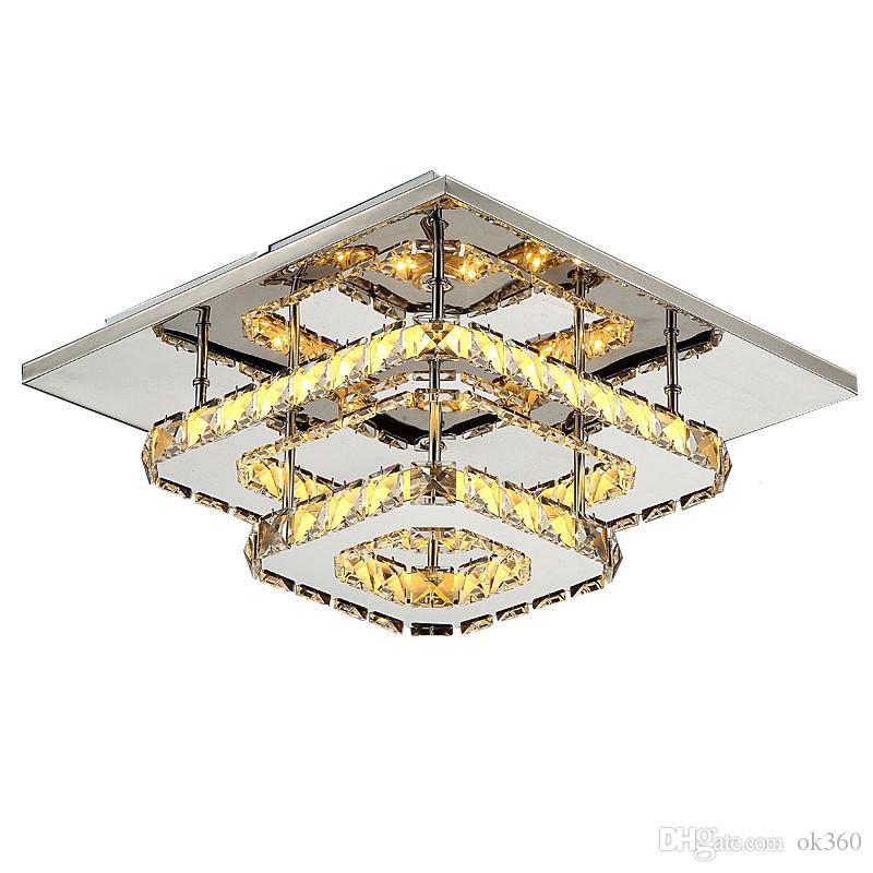 cristal moderne lumières LED de plafond pour luminaires design lampe PLAFOND salon de chambre Kristal Luster LUMINARIAS