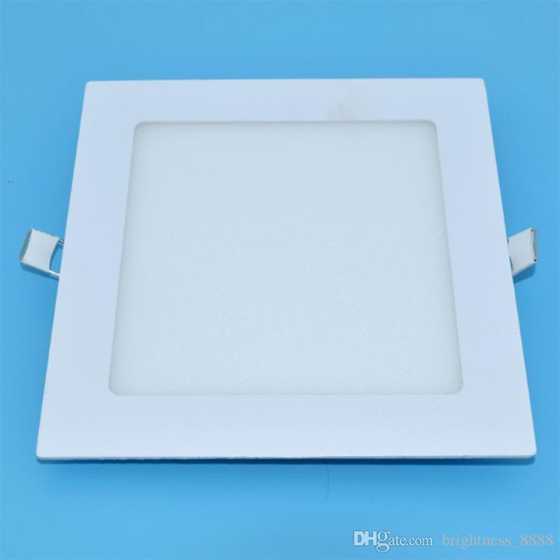 Диммирования LED утопленные фары, теплый / Естественные / холодный белый светильники лампы Квадратные супертонкого панели СИД, 6W / 9W / 12W / 15W / 18W / 24W