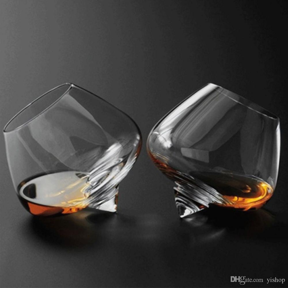 2pcs/set Crystal Wine Glass Cup Swinging Whiskey GLASSES- Spirit Drinking Tumble Transparent Glasses Drink Cocktail Beer holder 250ml/450ml