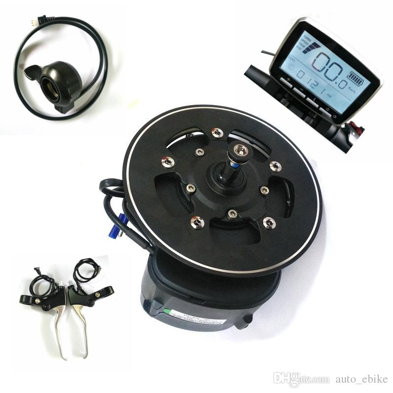 68/100 / 120mm BB Uzunluğu Tongsheng TSDZ2 DIY Ebike Kiti Orta Sürücü Motoru, Tork Sensörü 36 V / 48 V / 52 V Ebike Motor Başparmak Gaz Kelebeği Fren Seviyesi ile