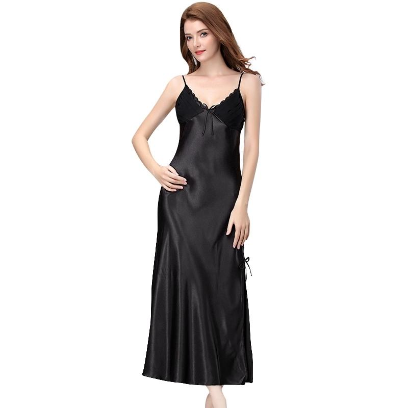 Designer Nighty Blumendruck Nachthemd Kleid Für Frauen Tragen
