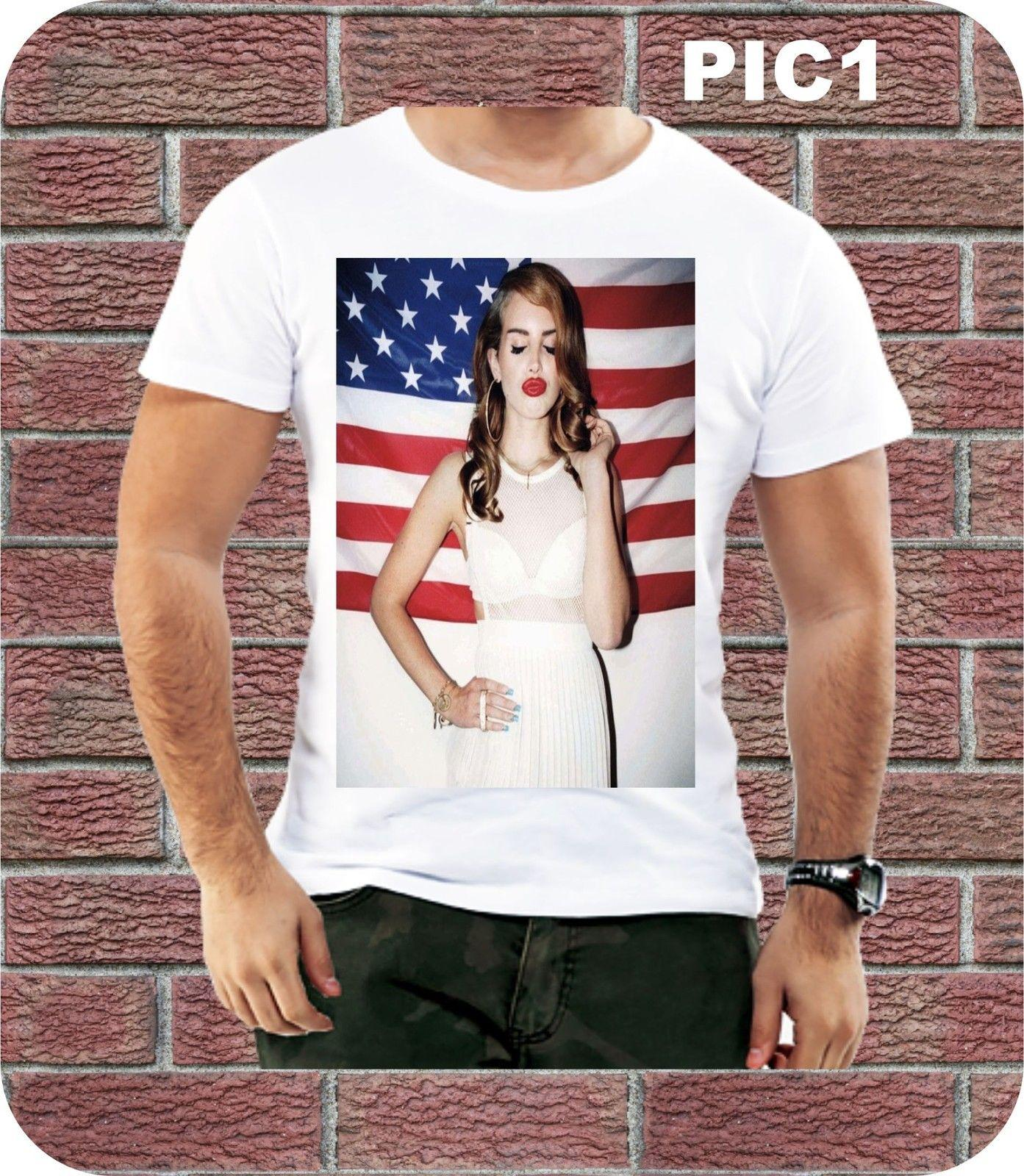 Lana Del Rey American Flag Men T Shirt Summer Design Present Music Birthday Gift Cool Casual Pride T Shirt Men Unisex New Funny T Shirt Prints Funky T Shirt Designs From Purezony