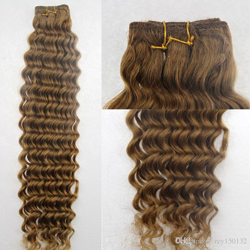 O Weave brasileiro do cabelo da onda profunda empacota o cabelo de Remy que tece a extensão do cabelo humano de 1PCS / LOT