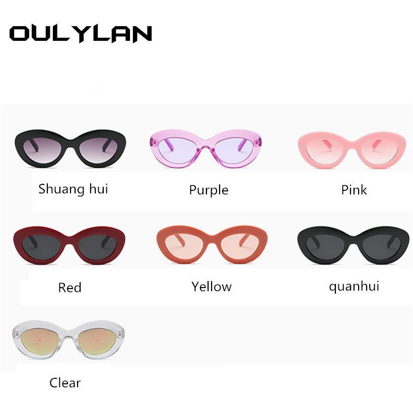 bd7cfe39cc1eb Compre Oulylan Oval Óculos De Sol Das Mulheres Oceano Lentes De Luxo Da Marca  Designer De Senhoras Do Vintage Óculos De Sol Feminino Óculos UV400 De ...